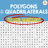 Polygons & Quadrilaterals Word Search Activity
