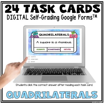 Quadrilaterals Posters and Task Cards