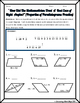 Quadrilaterals -  Properties of Parallelograms Riddle Worksheet