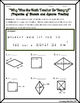 Quadrilaterals -  Properties of Rhombi and Squares Riddle Worksheet