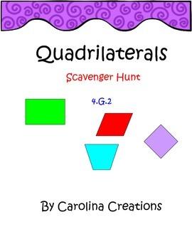 Quadrilaterals QR Code Scavenger Hunt -4.G.2 Fourth Grade