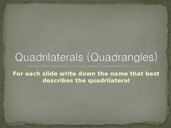 Quadrilaterals (Quadrangles)