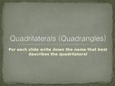Quadrilaterals (Quadrangles)