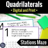 Quadrilaterals Activity | Digital and Print