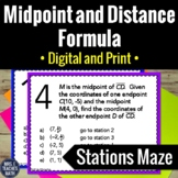 Midpoint and Distance Formula Activity | Digital and Print