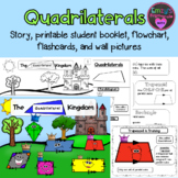 Quadrilaterals: Story, printable booklet, flashcards, graphic organizers