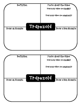 Quadrilaterals Student Notebook