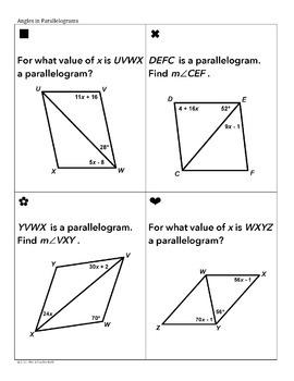 Quadrilaterals Sum Em Activity (Parallelograms, Trapezoids, Kites...)