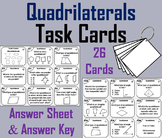 Classifying Quadrilaterals Task Cards for 3rd to 6th Grade