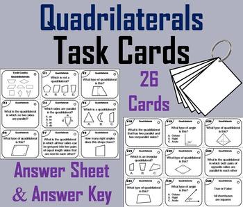 Classifying Quadrilaterals Task Cards/ Classifying Quadril