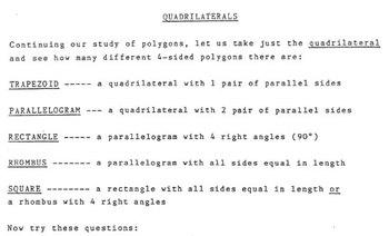 Quadrilaterals & Triangles - Spanish Version