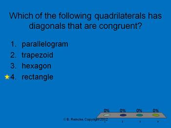 Quadrilaterals TurningPoint Clicker Presentation