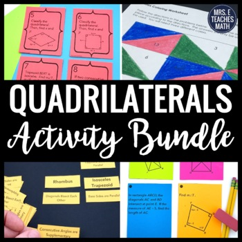 Quadrilaterals Activity Bundle