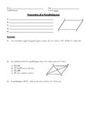 Quadrilaterals Unit (Parallelogram, Rectangle, Rhombus, Sq