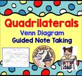 Quadrilaterals Venn Diagram Guided Note Taking