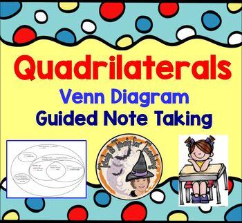 Quadrilaterals Venn Diagram Note Taking Worksheet Geometry