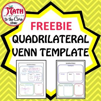 Quadrilaterals Venn Template Freebie