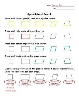 Quadrilaterals Vocabulary