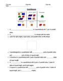 Quadrilaterals Vocabulary 4th Grade - Homework/Activity Sheet
