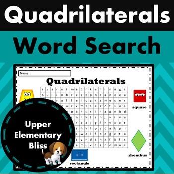 Quadrilaterals Word Search