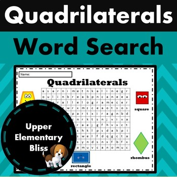 Quadrilaterals Word Search