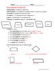 Quadrilaterals Worksheet