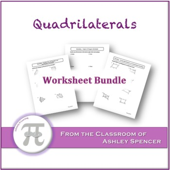 Quadrilaterals Worksheet Bundle