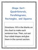 Quadrilaterals and Parallelograms Sort