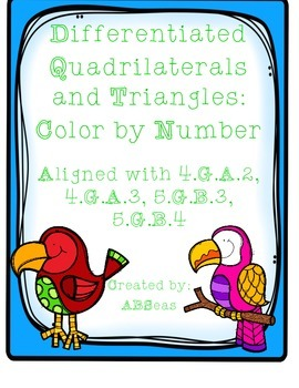 Classifying Quadrilaterals and Triangles Differentiated Color by Number