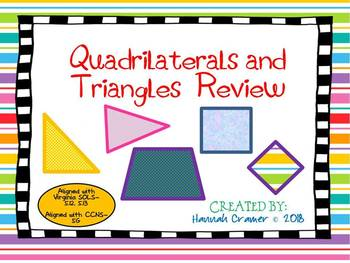 Quadrilaterals and Triangles Review Powerpoint