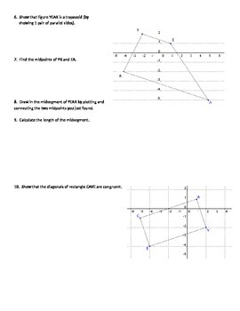 Quadrilaterals in the Coordinate Plane Proofs