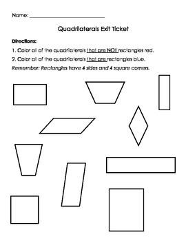 Quadrilaterals vs. Rectangles Sort