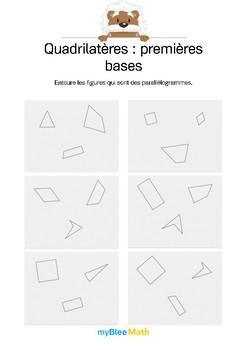 Quadrilatères 3 -Entourer les parallélogrammes