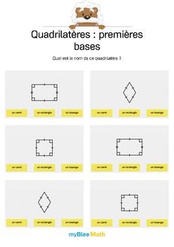 Quadrilatères 4 -Carré, rectangle ou losange ?