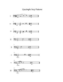 Quadruple Stop Exercises for String Orchestra. Sheet Music