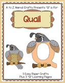 """Quail Craft and Letter """"Q"""" Practice Pages"""