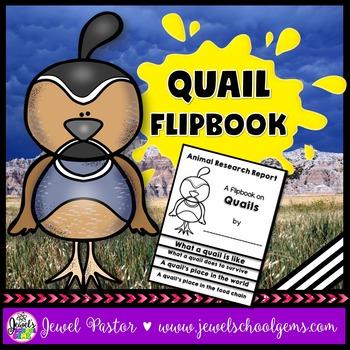 Quail Science Activities (Quail Research Flipbook)