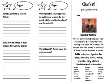 Quake! Trifold - ReadyGen 2016 4th Grade Unit 3 Module A