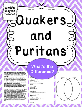 Quakers and Puritans: What's the Difference?