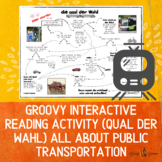 German Interactive Reading about Transportation (Writing A