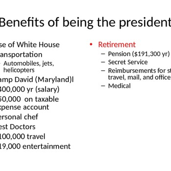 Qualifications and Roles of the President