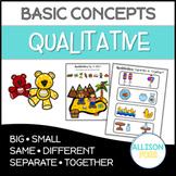 Qualitative Concepts NO PREP Speech Therapy