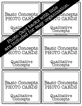 Qualitative Concepts Speech Therapy Basic Concepts Photo Flashcards