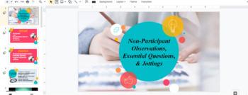 Qualitative Non-Participant Observation (Descriptive Writing & Journalism)