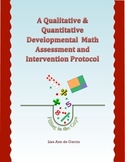 Qualitative & Quantitative Developmental Math Assessment &