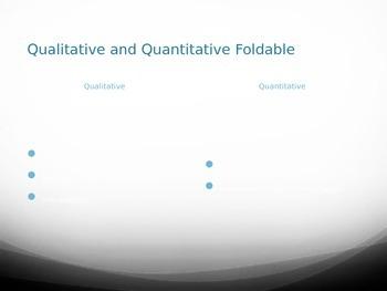 Qualitative/Quantitative Folded Paper Powerpoint
