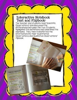 Qualitative & Quantitative Observations Poster, Text & Flap book, Worksheet, Lab