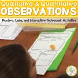 Qualitative & Quantitative Observations Poster, Text & Fla