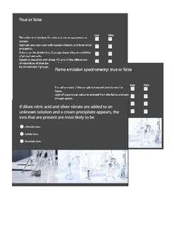 Qualitative analysis interactive quiz