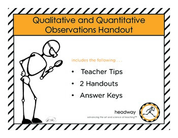 Qualitative and Quantitative Handouts & Worksheets